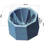 銅電極-立体図